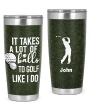 Golf Personalized-It takes a lot of balls Chrismas 20oz Tumbler front