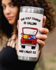 The golf course - Personalized Christmas Gift 20oz Tumbler aos-20oz-tumbler-lifestyle-front-93