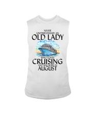 Never Underestimate Old Lady Cruising August Sleeveless Tee thumbnail