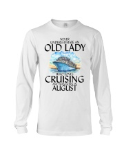 Never Underestimate Old Lady Cruising August Long Sleeve Tee thumbnail