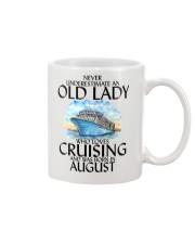 Never Underestimate Old Lady Cruising August Mug thumbnail
