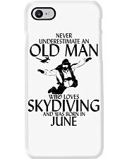 Never Underestimate Old Man Skydiving June Phone Case thumbnail