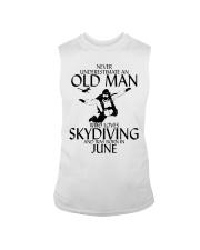 Never Underestimate Old Man Skydiving June Sleeveless Tee thumbnail