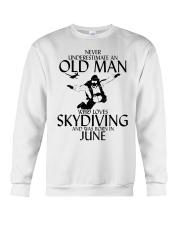 Never Underestimate Old Man Skydiving June Crewneck Sweatshirt thumbnail