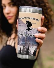 Skiing Don't Follow Me I Do Stupid Personalized  20oz Tumbler aos-20oz-tumbler-lifestyle-front-93