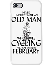 Never Underestimate Old Man Cycling February Phone Case thumbnail