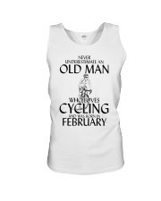 Never Underestimate Old Man Cycling February Unisex Tank thumbnail