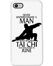 Never Underestimate Man Tai Chi June Phone Case tile