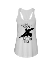 Never Underestimate Man Tai Chi June Ladies Flowy Tank thumbnail