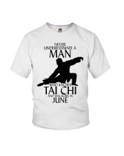 Never Underestimate Man Tai Chi June Youth T-Shirt thumbnail