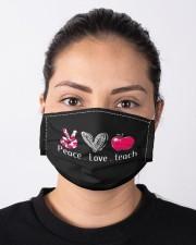 Peace love teach  Cloth face mask aos-face-mask-lifestyle-01