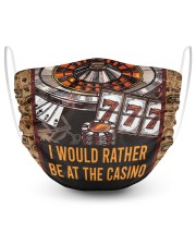 I WOULD RATHER BE AT THE CASINO  2 Layer Face Mask - Single front