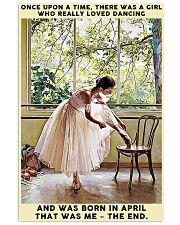 Girl Loved Ballet Born In April 24x36 Poster front