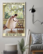Girl Loved Ballet Born In April 24x36 Poster lifestyle-poster-1
