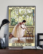 Girl Loved Ballet Born In April 24x36 Poster lifestyle-poster-2
