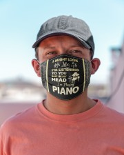 In My Head I'm Playing Piano Cloth face mask aos-face-mask-lifestyle-06
