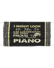 In My Head I'm Playing Piano Cloth face mask front