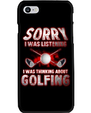 Sorry I Wasn't Listening Golfing Phone Case thumbnail
