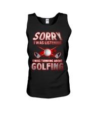 Sorry I Wasn't Listening Golfing Unisex Tank thumbnail