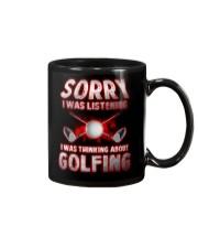 Sorry I Wasn't Listening Golfing Mug thumbnail