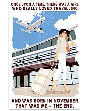 November Girl Loves Travelling 24x36 Poster front