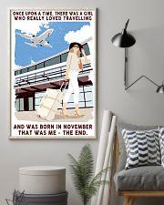 November Girl Loves Travelling 24x36 Poster lifestyle-poster-1