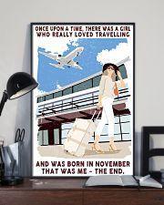 November Girl Loves Travelling 24x36 Poster lifestyle-poster-2