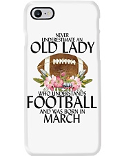 Never Underestimate Old Lady Football March Phone Case thumbnail