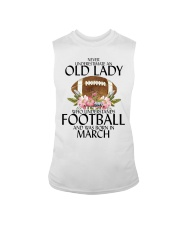 Never Underestimate Old Lady Football March Sleeveless Tee thumbnail