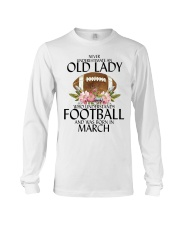 Never Underestimate Old Lady Football March Long Sleeve Tee thumbnail