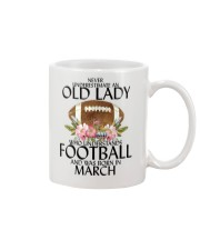 Never Underestimate Old Lady Football March Mug thumbnail