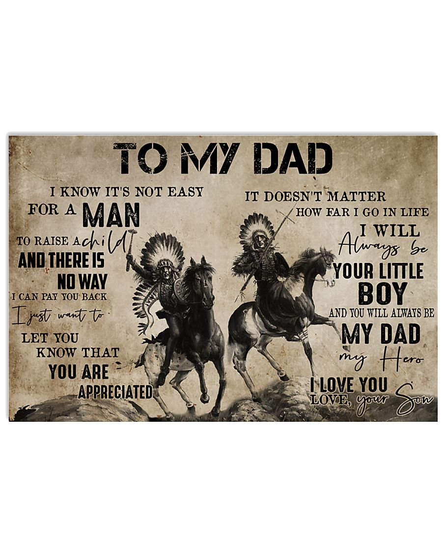 To My Dad From Son 24x16 Poster