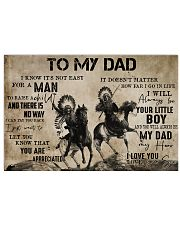 To My Dad From Son 24x16 Poster front