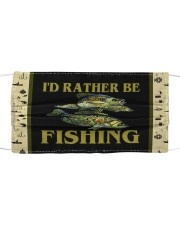 I Would Rather Be Fishing-Crappie Cloth face mask thumbnail