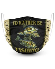 I Would Rather Be Fishing-Crappie 2 Layer Face Mask - Single front