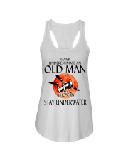 Never Underestimate An Old Man Stay Underwater  Ladies Flowy Tank thumbnail