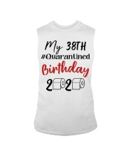 38th Birthday Quarantined 38 Year Old Sleeveless Tee thumbnail
