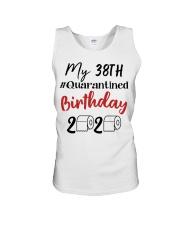 38th Birthday Quarantined 38 Year Old Unisex Tank thumbnail