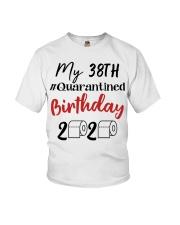 38th Birthday Quarantined 38 Year Old Youth T-Shirt thumbnail