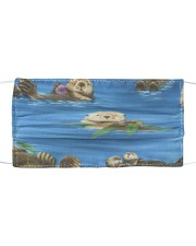 Otters On Blue Mask tile