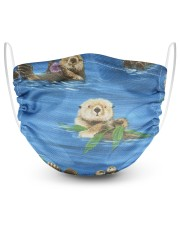 Otters On Blue 2 Layer Face Mask - Single front