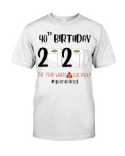 40th Birthday 40 Years Old Classic T-Shirt tile
