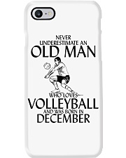 Never Underestimate Old Man Volleyball December Phone Case thumbnail