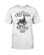Old Man Loves Rafting July Classic T-Shirt front