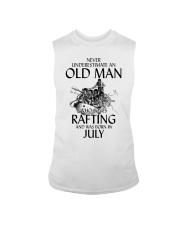 Old Man Loves Rafting July Sleeveless Tee thumbnail
