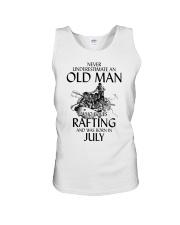Old Man Loves Rafting July Unisex Tank thumbnail