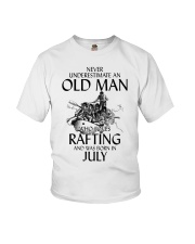 Old Man Loves Rafting July Youth T-Shirt thumbnail