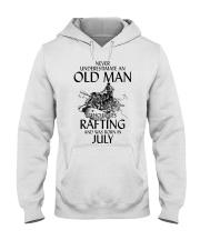 Old Man Loves Rafting July Hooded Sweatshirt thumbnail