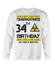 34th Birthday 34 Years Old Crewneck Sweatshirt thumbnail