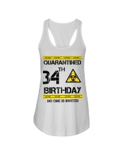34th Birthday 34 Years Old Ladies Flowy Tank thumbnail
